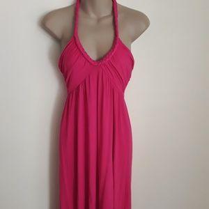 Dresses & Skirts - H&M Boho Fuschia Halter Dress 8